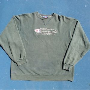 Vintage 90s faded army green champion crewneck🔥